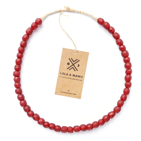 Baule Red - Recycled Glass Beads M