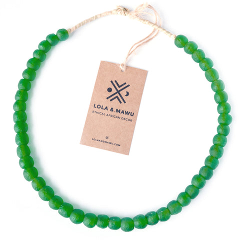 Congo Green - Recycled Glass Beads M