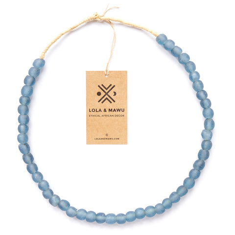 Mali Blue - Recycled Glass Beads M