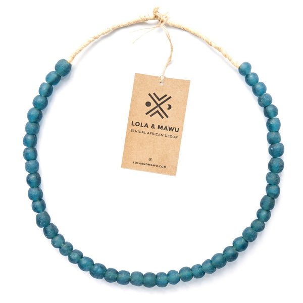 Morocco Blue - Recycled Glass Beads M