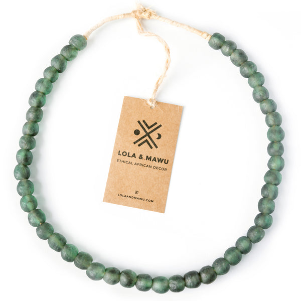 Niger Green - Recycled Glass Beads M