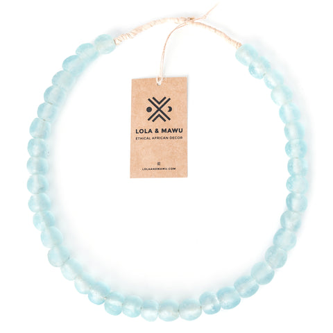 Clear Water - Recycled Glass Beads L