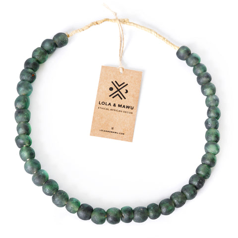 Niger Green - Recycled Glass Beads L