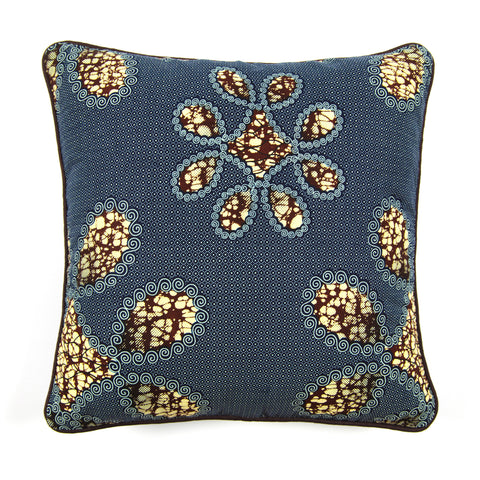 African Print Cushion - QUIET FLOWERS