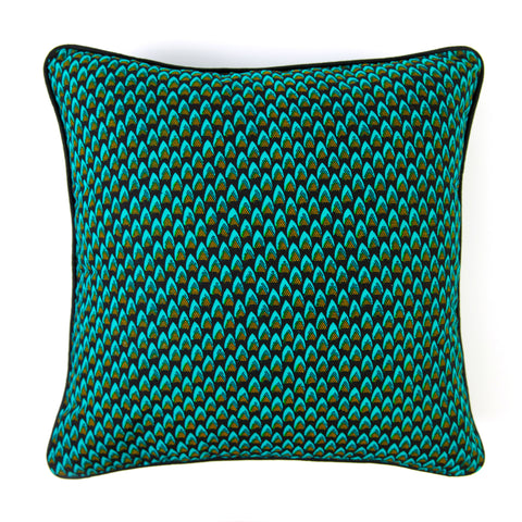 African Print Cushion - PINE CONES