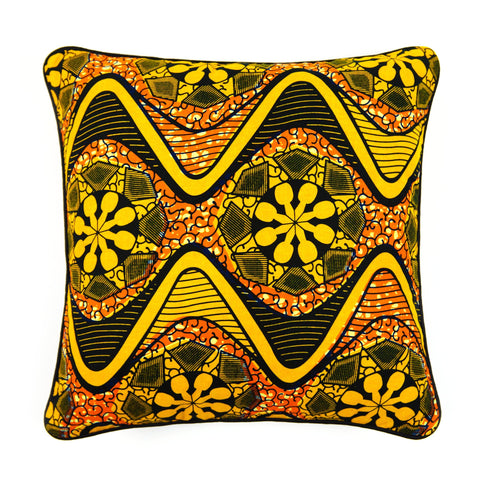 African Print Cushion - STREAMERS