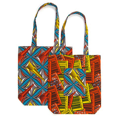 African Print Tote - BARCODE