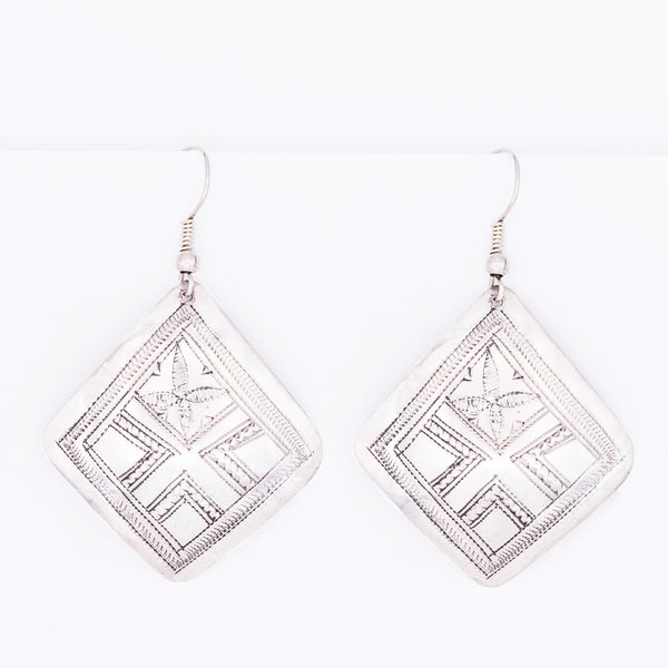 Tuareg Engraved Earrings No.26
