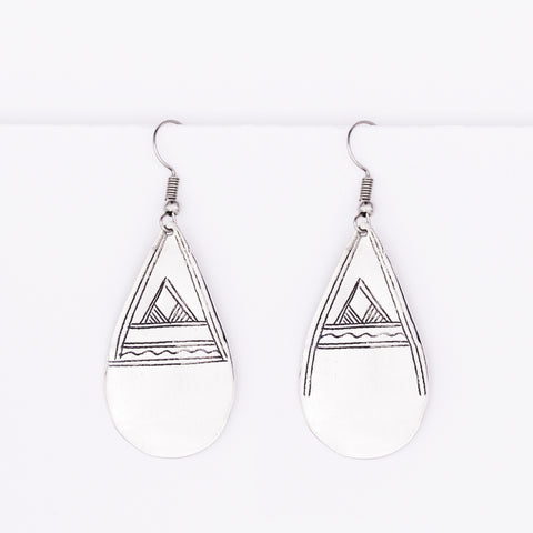 Tuareg Engraved Earrings No.5