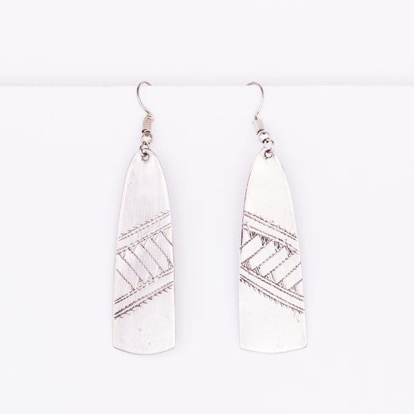 Tuareg Engraved Earrings No.42