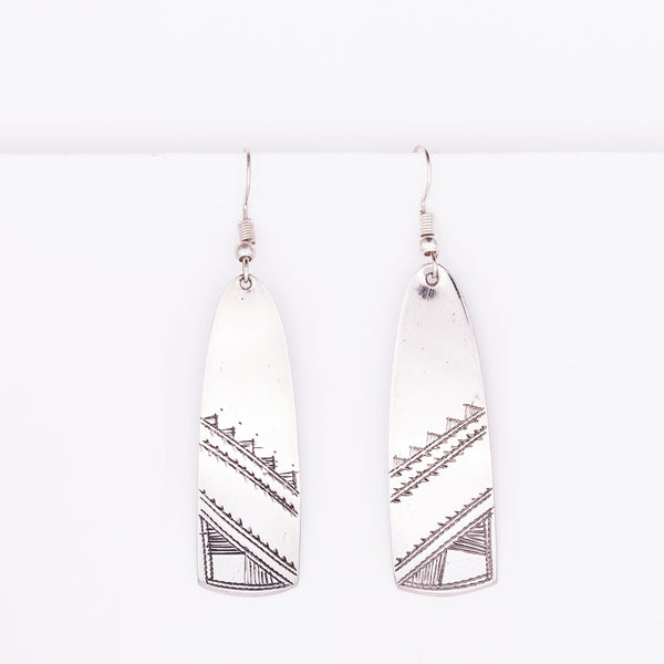 Tuareg Engraved Earrings No.43