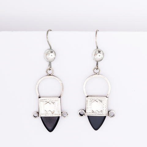 Tribal Tuareg Earrings - Black