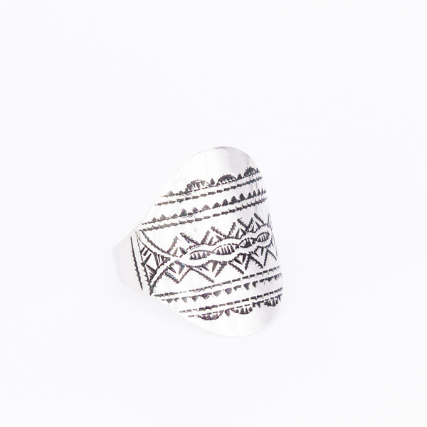 Tuareg Engraved Ring No.3 - Size P