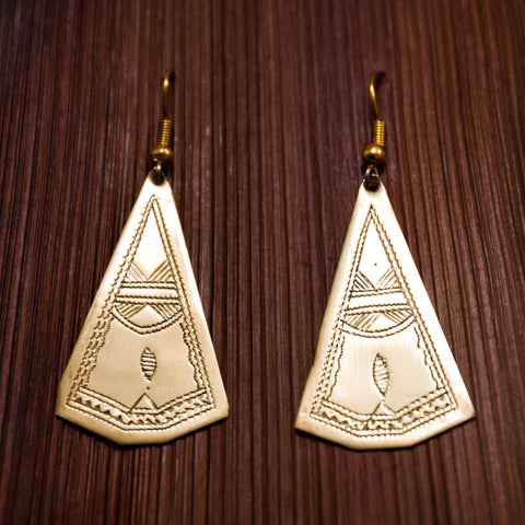 Tuareg Engraved Earrings No.9