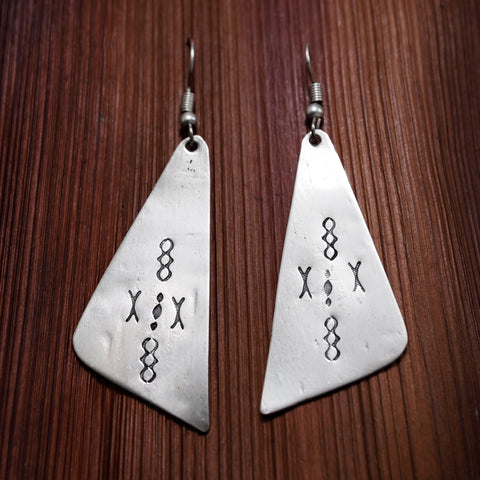 Tuareg Engraved Earrings No.12