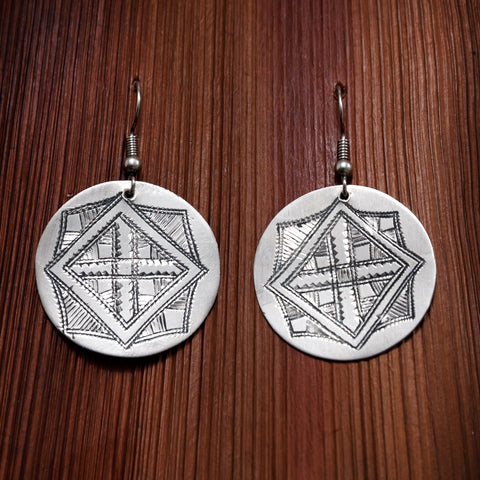 Tuareg Engraved Earrings No.22