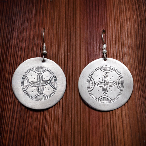 Tuareg Engraved Earrings No.23