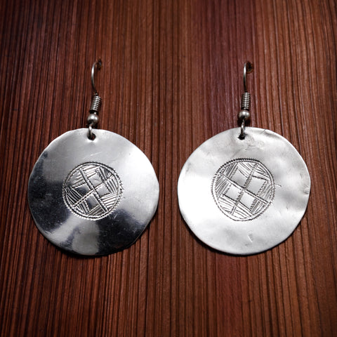 Tuareg Engraved Earrings No.24