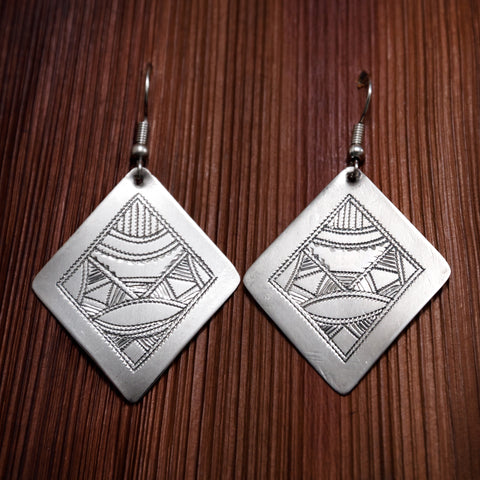 Tuareg Engraved Earrings No.27