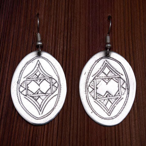 Tuareg Engraved Earrings No.31