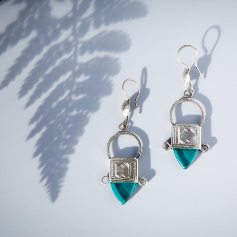 Tribal Tuareg Earrings - Green