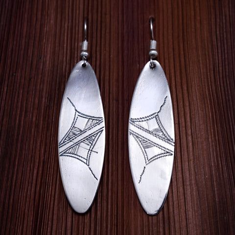 Tuareg Engraved Earrings No.35