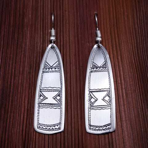 Tuareg Engraved Earrings No.41