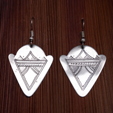 Tuareg Engraved Earrings No.46