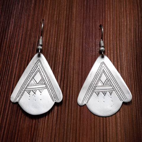 Tuareg Engraved Earrings No.47