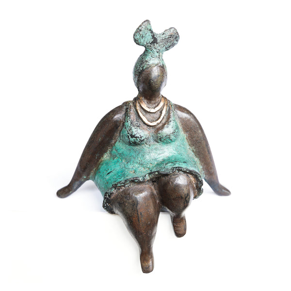 African Bronze Mama - Patricia in Teal