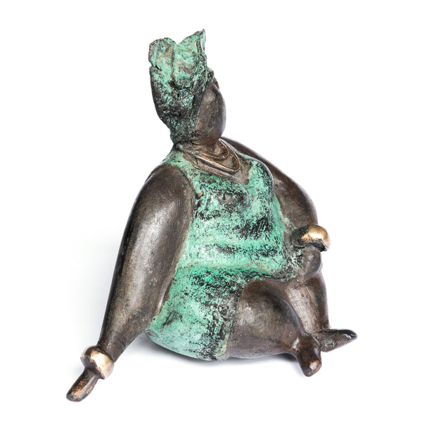 African Bronze Mama - Lydia in Teal