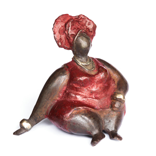 African Bronze Mama - Lydia in Red