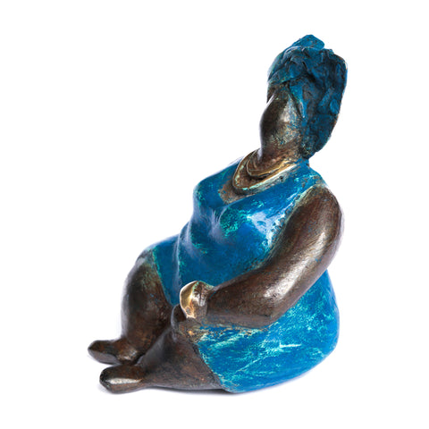 African Bronze Mama - Lydia in Blue