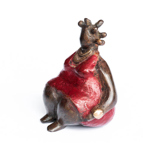 African Bronze Mama - Rita in Red