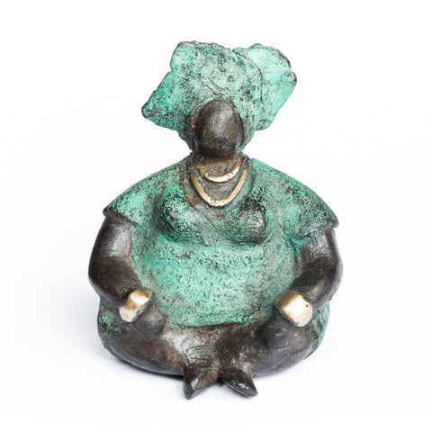African Bronze Mama - Anita in Teal