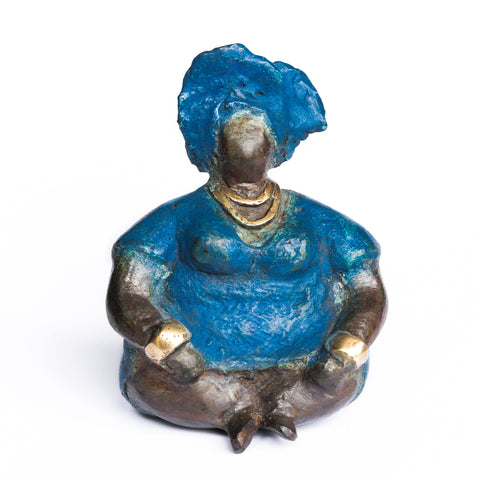 African Bronze Mama - Anita in Blue