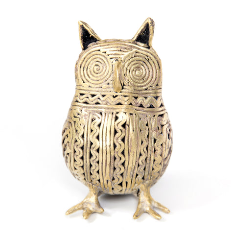 Large Owl - Bronze sculpture