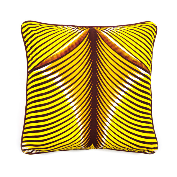African Print Cushion - TIGER BACK