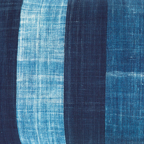 All shades of blue - Oblong Indigo Cushion