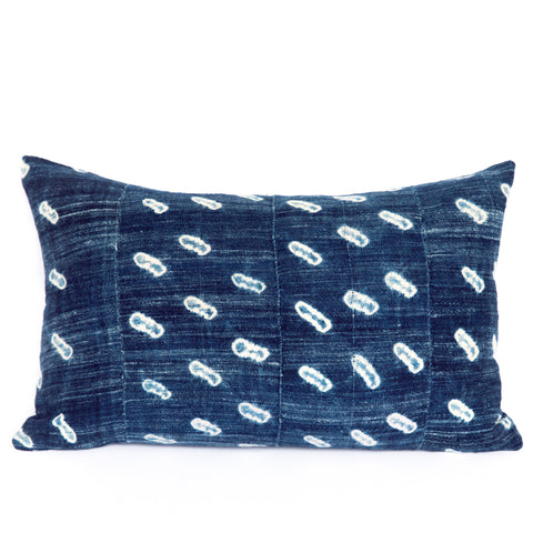 Cowries - Oblong Indigo Cushion