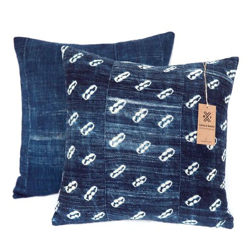 Cowries - Indigo Cushion
