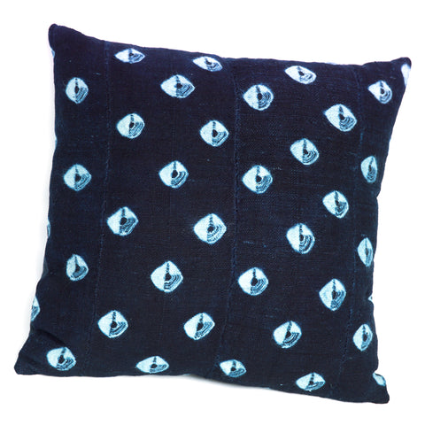 Eyes of the Night - Indigo Cushion
