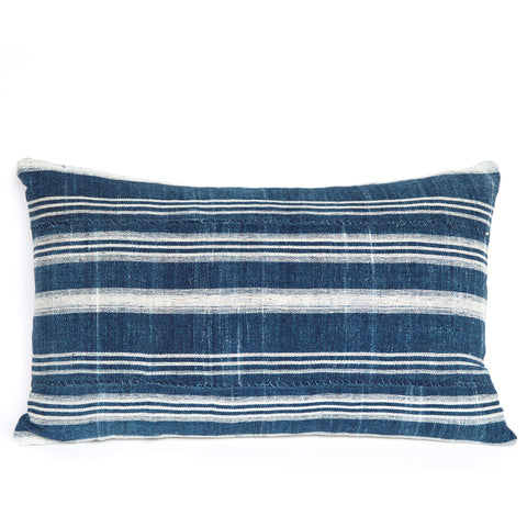 Fulani 3 - Oblong Indigo Cushion