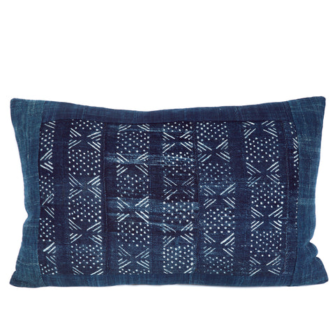 Mousso - Oblong Indigo Cushion