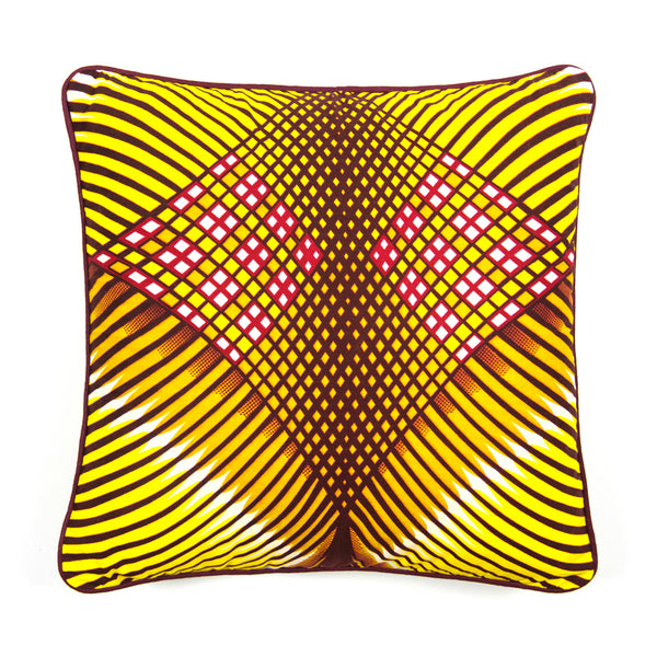 African Print Cushion - SMALL DIAMONDS