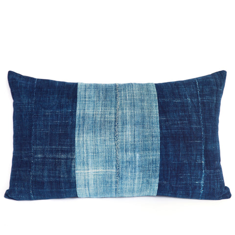 Shores of Karakoro No. 2 - Oblong Indigo Cushion