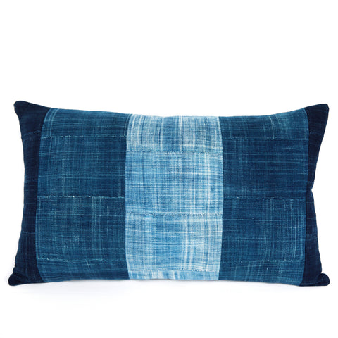 Shores of Karakoro - Oblong Indigo Cushion