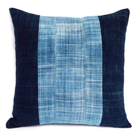 Shores of Niger No. 2 - Indigo Cushion