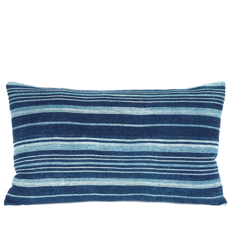 Fulani - Oblong Indigo Cushion