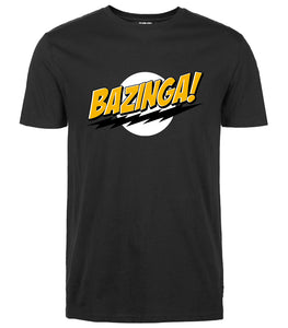 Big Bang Theory t-shirt Bazinga streetwear Mens